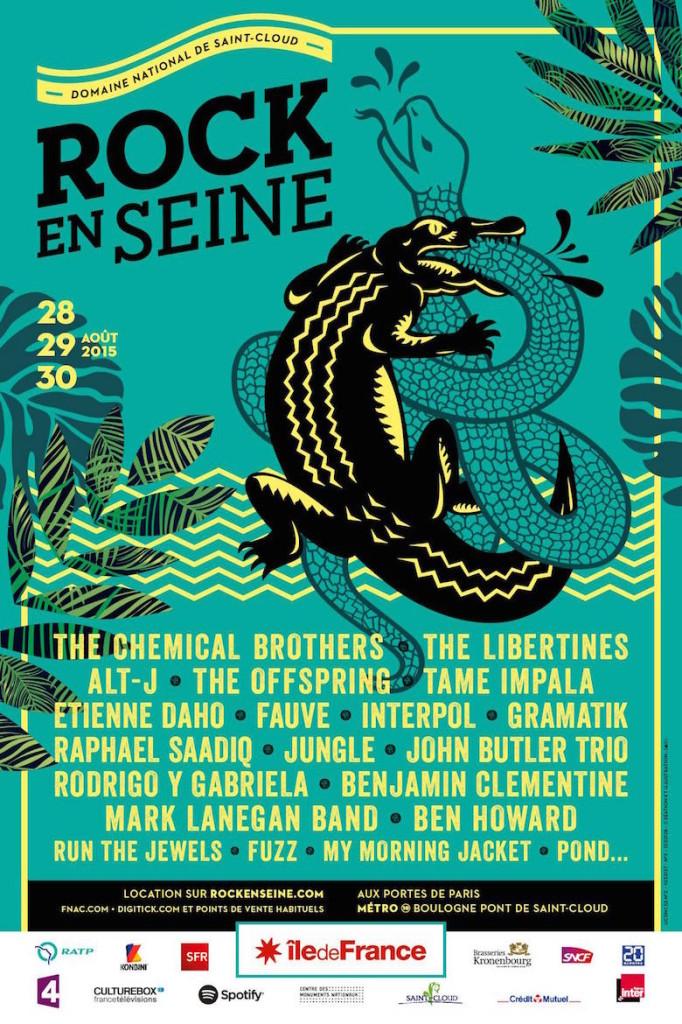 Le festival Rock en Seine sera à Saint-Cloud les 28, 29 et 30 août2